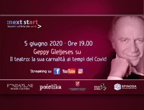 """Fondazione Molise Cultura. A """"Next Start"""" Geppy Gleijeses parla del futuro del Teatro"""